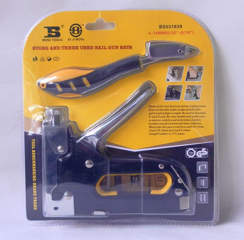 Heavy Duty Rapid Upholstery Hand Staple Nail Tacker Stapler Gun Set BOSI Tools  rasp dremel 2016<br><br>Aliexpress