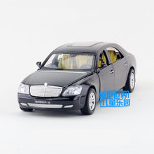 Free Shipping/Diecast Toy Model/1:32 Scale/Maybach 58 Super Car/Pull Back/Sound & Light/Educational Collection/Gift For Kid(China)