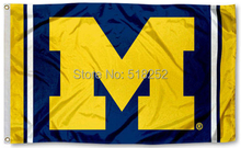 Michigan Wolverines Jersey Stripes Flag 3x5 FT NCAA 150X90CM Banner 100D Polyester Custom flag grommets 60,free shipping(China)