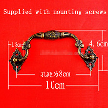100mm Zinc alloy antique wooden handle eight star dedicated European cabinet handle drawer furniture accessories Wholesale(China)
