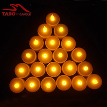 12pcs/set Yellow Flickering LED Tea Light Battery Candles Flameless Wedding Xmas Party with Battery Included