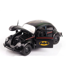 Toys for Children 1:36 scale Diecast Alloy Batman Classic Car Beetle Black Alloy Back to the Car brinquedos boy Gift