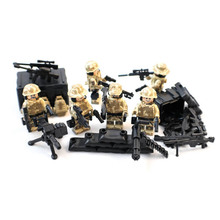 Falcon Commando Counter-Terrorism Eagle Hunting Small Toy Figure Military Army Weapon Building Block Toy Set For Boy kids(China)