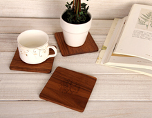 4pcs/lot cup mat placemat kitchen accessories acessorios de cozinha American black walnut waterproof anti-scald coasters(China)