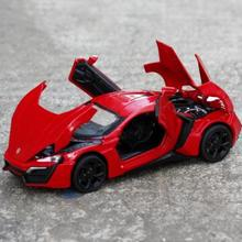 1:32 Special offer The Fast And The Furious Lykan Hyper sport luxurious alloy car Models Metal Classical Cars toy