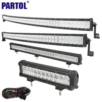 """Partol 12 """"20"""" 22 """"23"""" 31 """"32"""" 42 """"52"""" 5D LED Light Bar Travail Offroad voiture LED Bar Combo Faisceau ATV SUV 4X4 4WD CREE Puces"""