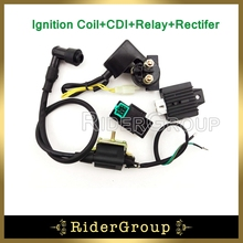 Ignition Coil AC CDI Box Regulator Rectifier Relay For 50cc 70cc 90cc 110cc Engine Lifan Loncin Taotao Roketa Chinese ATV Quad