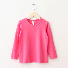 2017 Spring Top Quality Girls t-shirts Long Sleeve boys t shirt children Pure Color Kids t Shirts For Boys Top Children Clothes