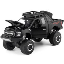 New 1:32 Kids Toys Ford Raptor F150 Pickup Truck Metal Toy Cars Model With Music Flashing Sound For Baby Car Gifts Free Shipping(China)