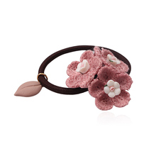 M MISM New Wool Flower Design Elastic Hair Band scrunchy Headband Women Girls Hair Accessories Gum for Hair Ornament Hair Ring