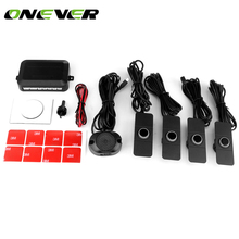 4 Sensors Adjustable Buzzer Car Parking Sensor Kit Reverse Backup Radar Sound Alert Indicator Probe System(China)