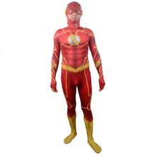 custom the flash zentai suit men for kids suit cosplay costume wally west reverse adult boys women 2016 women lycra spandex(China)