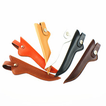 10pcs professional Retro hair scissors sheath leather case barber packet scissor cover shears Holster hairdressing scissors bag(China)