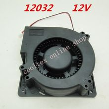 12032 blower Cooling fan 12 Volt Brushless DC Fans centrifugal Turbo Fan cooler radiator(China)