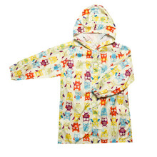 Kids Owl Raincoats Waterproof Lovely Kids Nylon Hiking Rainwear(China)