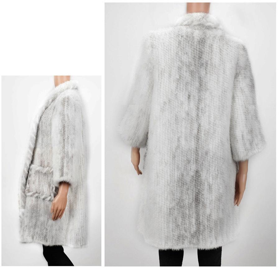 women luxury genuine real knitted mink fur shawls (15)