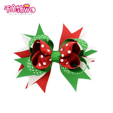 Christmas print kids hair clips gift for children hair accessories charming santa snowflake multi shapes haar wearing CT-13(China)