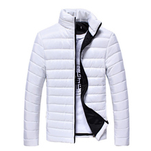 Men's Winter Coat 2016 New White Black Ultra Light Down Jacket For Mens Parka Cotton Coat Outwear Male Clothing 3XL 50