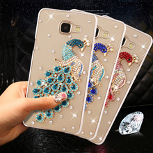 "3D Peacock Rhinestone Case for Huawei Y5 ii CUN-U29 / Y6 ii Compact for Huawei honor 5A LYO-L21 5.0"" (Only Russia version) Cover(China)"