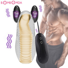 Buy Male Masturbator Fantasty Climax Delay Stimulate Glans Vibrating Massager Stamina Trainer 12 Speeds Vibration Sex Toys Men