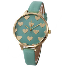 Fashion Love Heart Watches Women PU Leather Strap Geneva Watch Lady Womens Sports Clock Quartz Wrist Watch Relogio Reloj #N