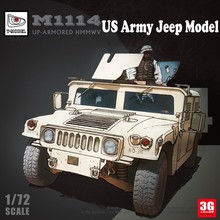 New Arrival 1:72 Scable US Army Jeep Car Model Buidling Kit Assemly Kit Tank Model DIY Up-Armored Jeep Model