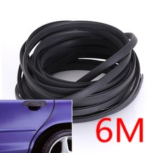 9x5mm 6M Channel  Black Edge Trim Rubber Seal Strip Car Auto Camper Trailer RV weatherstrip mouldings Seal pillar