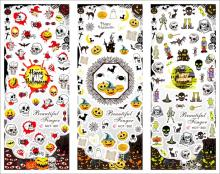 3 In 1 HOT295-315 Nail Stickers Decals Watermark Water Transfer Sticker  Halloween Korea Style Manicure