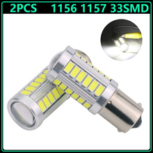 2pcs Strobe 1156 BA15S BAY15D 1157 P21W 33 led 5630 5730 smd Car Bulb Brake Lights auto Reverse Daytime Lamp White Red amber