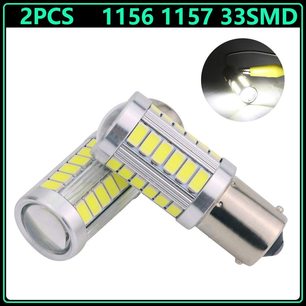 2pcs 1156 BA15S BAY15D 1157 P21W 33 led 5630 5730 smd Car Tail Bulb Brake Lights auto Reverse Lamp Daytime Running Light white<br><br>Aliexpress