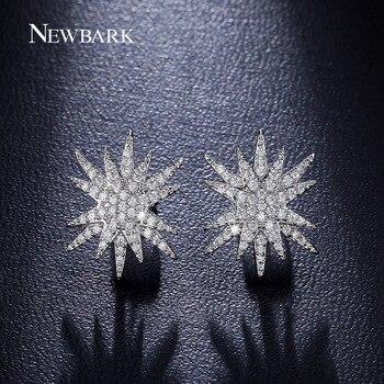NEWBARK Étoiles Empilés Style Boucles D'oreilles Mode Bijoux Or Blanc Plaqué Minuscule Zircon Cubique Pavé Exquis Boucles D'oreilles Pour Les Femmes
