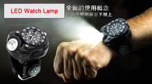 New design 1000 lumens USB quartz wrist watch flashlight lamp waterproof rechargeable led for running bicycle light lantern