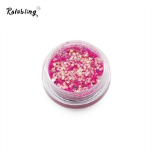 Rolabling 1PC/BOX Rose Red High Gloss Nail Glitter Powder Dust UV Gel Polish Decorations 3D Manicure Art Accessories Nail Design