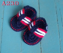 Free shipping Crochet Baby Shoes Baby boy Flip Flop,Handmade crocheted Toddler shoes
