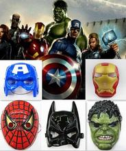 5pcs/lot New Fashion The Avengers Spider Man Iron Man Hulk Batman America Captain Cosplay Toy Free Shipping(China)