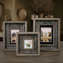 3/6/7 Inch Creative handcraft exquisite frame solid wood Photo Craft gifts Frame Home Decor Wooden Desktop Wall Picture Frame(China)
