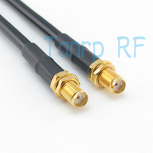 Freeshipping! 3FEET RF Pigtail jumper coaxial cable RG58 SMA female jack to SMA female jack 100CM Wholesale