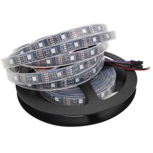 5M DC5V WS2801 IC Digital Addressable RGB Dream Color LED Strip, 160 LEDs 32Leds/M pixel 12mm Black PCB IP67 Silicone Waterproof