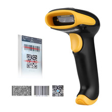 Excelvan 1D 2D QR Code Image Barcode Scanner Support WinXP/7/8/8.1/10/Vista/Android/IOS Multiple Languages Black(China)