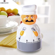 cooking tools alarm clock kitchen timer dial timers chef creative fashion cute red 60minute Pretty