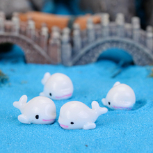 5Pcs Resin Cute Mini Dolphins Home Micro Fairy Animals Figurines Miniatures Home Party Wedding DIY Decoration Approx 1*2cm