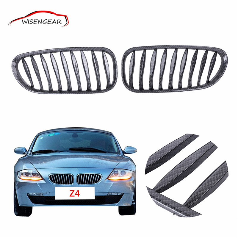 Carbon Fiber Black Front Kidney Grille Grill For BMW E85 E86 Z4 2003 - 2008 Convertible/Coupe Car styling Bumper Grille C/5<br><br>Aliexpress