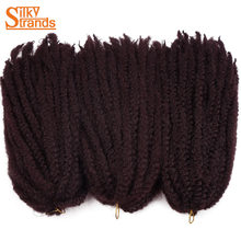 Silky Strands 18Inch Marley Braids Hair Crochet Ombre Afro Kinki Kanekalon Synthetic Braiding Hair 3Packs/Lot