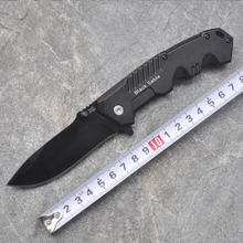 Black Hunting Folding Knife 7Cr17 Blade Aluminum Handle Pocket Camping EDC Knives For Survival Utility Combat Rescue Tools(China)