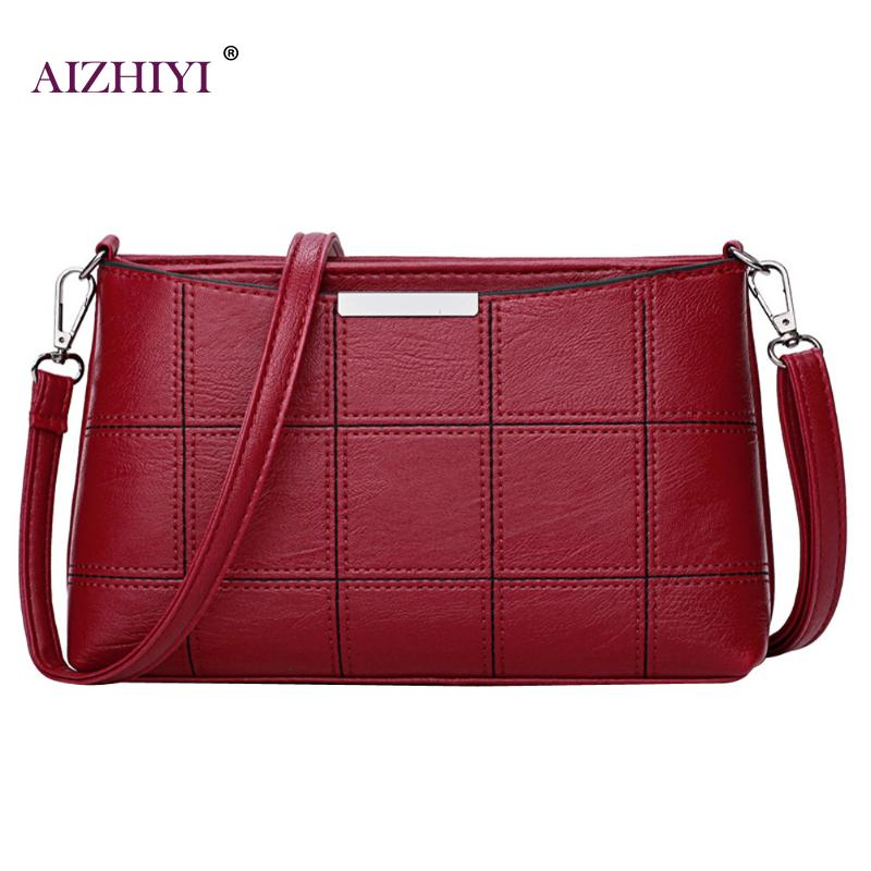 Plaid Woman Bag Leather Cross Body Hand Bag Sac Main Women Messenger Bags Female Shoulder Handbag Crossbody Bags Women