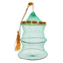 Green Foldable Fishing Keep Net Fishing Crab Fish Lobster Crawdad Trap Net 45#