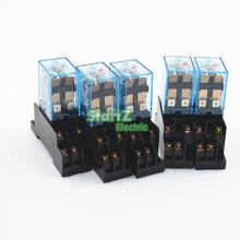 5Pcs Relay  MY2NJ  220/240V AC Small relay 5A 8PIN Coil DPDT With Socket Base