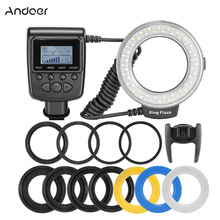 Andoer RF-550D Macro 48 LEDs Ring Flash Light Mini Camera Flash for Canon Nikon Pentax Olympus Panasonic DSLR Cameras