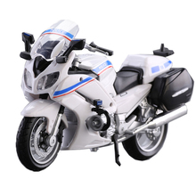 Yamaha Police Motorcycle Toy 1:18 Scale Diecast & ABS Motorcycle FJR 1300A Model Police Motor Toys For Children Juguetes(China)