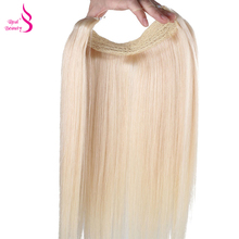 Real Beauty Flip Hair Weft Extension Blond Color European Remy Fish Line Straight No Clip No Glue For White Women